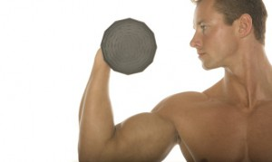 Man dumbbell