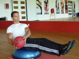 Bosu core stability training