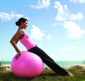 Swiss ball Low back pain exercise