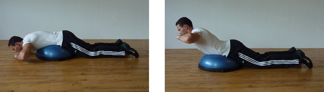 Bosu back extension